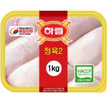 하림 냉장 정육(2) 1kg(진공포장) / 껍질있고 뼈없는 닭다리살 / 닭갈비 / 춘천