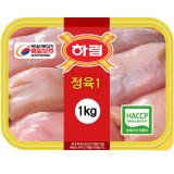 하림 냉장 정육(1) 1kg(진공포장) / 껍질없고 뼈없는 닭다리살 / 닭갈비 / 춘천