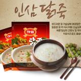 하림 인삼닭죽 270g 1봉 / 삼계탕 / 삼계 / 초복 / 중복 / 말복 / 영양 / 보양식