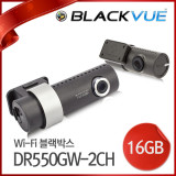 [피타소프트] 차량용블랙박스 블랙뷰 와이파이 2채널 DR550GW-2CH(16GB) Wi-Fi 2채널 전방 FullHD+후방HD 1920x1080 30fps