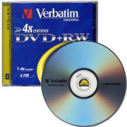 버바팀 DVD+RW 4배속 4.7GB [케이스 1장]