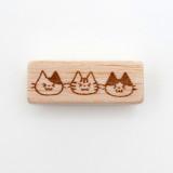일본 직수입 100% 핸드메이드-라인 고양이 스탬프 (ライン猫)