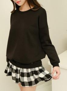 [무료배송]OPF946-mini 체크 레이어드ops/기모원피스/예쁜원피스/캐쥬얼/무지/맨투맨티