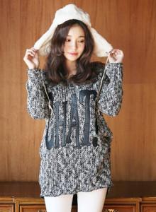 [코코베른]KNF658-CHAT long knit/니트티/롱니트/겨울니트/루즈핏/데일리룩/가죽패치