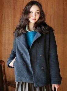 [코코베른]JKF728-basic double coat/모직코트/겨울코트/양털안감/오버핏/베이직