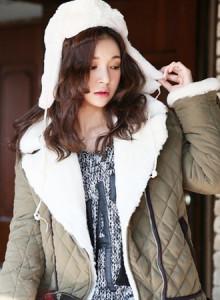 [코코베른]JKF722-캐빈 밍크자켓/겨울자켓/숏자켓/여성자켓/누빔안감/퍼자켓/빈티지