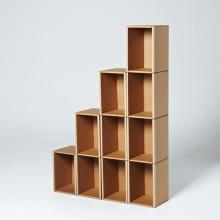 [서울샵]공구없이 간단하게 만드는 종이 1,2,3,4 단 책꽂이 세트