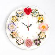 [신혼부부]세라믹 꽃 벽시계-집들이선물 추천