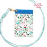 카드홀더 목걸이 카드지갑 국산 소가죽 ID 학생증 사원증 명함증 올리비아팝 lovely pop flower card holder