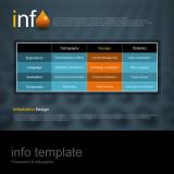 파워포인트 인포 템플릿 / 물방울 테마 / 표 설명형