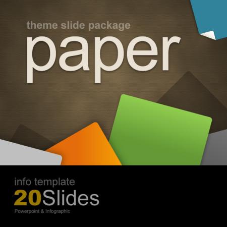 파워포인트 인포 템플릿 / 색종이 테마 슬라이드 패키지