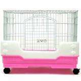 강아지/고양이/소동물 케이지 겸용 애완동물 케이지 컴팩트 하우스 R65 (핑크/65x43x53cm)