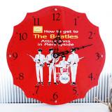 [Beatles] 비틀즈 레드 벽시계 - 무소음 벽걸이 시계 / 집들이선물 / 북유럽감성
