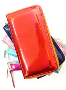 [서울샵] 메탈릭 장지갑, 지갑, 여성용 지갑, 에나멜 지갑, 지퍼타입 지갑, 페턴트 장지갑, 지퍼지갑