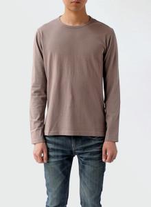[BOR]크루넥 긴소매 티셔츠/남성용/베이지/M,L사이즈 한정