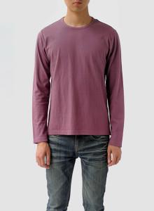 [BOR]크루넥 긴소매 티셔츠/남성용/오키드/M,L사이즈 한정