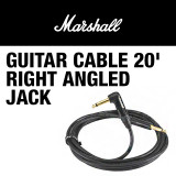 MARSHALL GUITAR CABLE 20' RIGHT ANGLED JACK - 마샬 기타 케이블 약 6미터