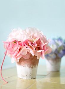 러블리 수국 미니 화분 - 핑크