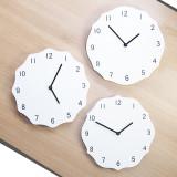 [신상특가] 우드 화이트 벽시계 - 인테리어 벽걸이 시계 / 집들이선물