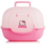아이리스 와이드 고양이 화장실 WNT-510 (Hello Kitty 핑크키티/51x40x39cm) 후드형/큐티한디자인