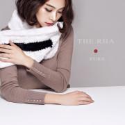 밍크목도리 천연스킨 블랙앤화이트 밍크 니팅 머플러 유럽수출 퍼머플러 독보적인 디자인