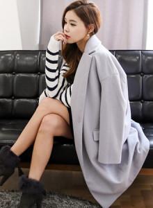 코코베른☆JF186/basic long coat/여성코트/아우터/오피스룩/멋스러운/롱코트/세련미/심플
