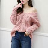 KF193 back X knit/여성니트/언발니트/오버핏/러블리/겨울니트/꽈베기/예쁜니트