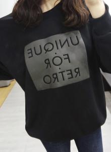 유니크폴, mtm[걸스데일리/맨투맨/자체제작/유니크폴레트로/박시한티/티셔츠/엠보나염/레터링]