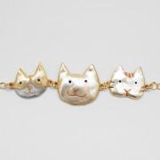 일본 직수입-팔나트폭 스마일냥 팔찌(ネコ社会)