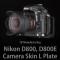 니콘 D800, D800E 카메라스킨 엘플레이트 (Black)