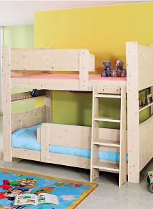보비쥬S 배시 슈퍼싱글 2층 원목 침대+단면 매트리스 (착불)