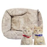 빈티지스타일 스퀘어베드 애견 방석/고양이쿠션 (S/55 x 45 x h19cm)