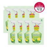 샤프란 꽃담초 섬유탈취제 리필 320ml 페퍼민트 X 8개 /섬유탈취제 (샤프란 )