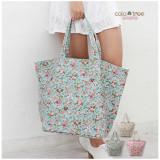 엠마 패브릭 여성 숄더백 토트 쇼퍼백 꽃무늬 학생 캐주얼 가방