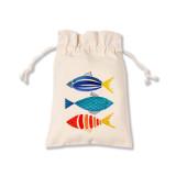 연어 무늬 파우치 / 물고기 파우치 / 에코백