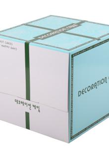3단 케익박스 금사 (케익상자/케익박스/케익포장/cake box)