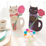 고양이의 생일 축하 카드