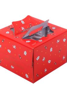 쉬폰 케익박스 2호 (크리스마스) (케익상자/케익박스/케익포장/cake box)