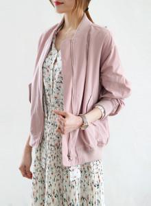 [걸스데일리]벚꽃엔딩 점퍼(연핑크,블랙)
