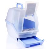 아이리스 더블 시스템 고양이 화장실 TIO-530 (블루/52.5x40.5x42.5cm /서랍식+후드형/항균+소취