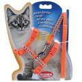다이아몬드 컬러 고양이 몸줄셋트 하네스 리드셋트 산책줄 (오렌지)