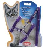 다이아몬드 컬러 고양이 몸줄셋트 하네스 리드셋트 산책줄 (퍼플)