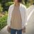 화이트 블루종 간절기 자켓 여름에는 자외선차단