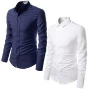 슬림라인핏 링클프리 스판 히든버튼 드레스 기본 긴팔 셔츠 95-125(XS-3XL) 블랙,화이트,레드,베이지,네이비