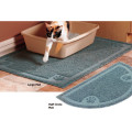 SPET 발바닥 사각 점보 리터 캡쳐매트 현관매트 발바닥매트 모래매트 - 그레이/사각형 (90 x 60cm)