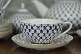 (B품 특가) 7. 쿠폴라 티잔과 소서, 로모노소프 임페리얼 포세린 예쁜그릇