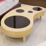 [광성가구] 천연무늬목 흑경 땅콩 소파 테이블 NA