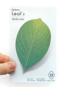 [깊쁨] 깊쁨 리프 B 감나무 잎 모양의 포스트잇_여름 나뭇잎