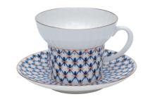 (예카 공구) 5. 웨이브코발트넷 티잔과 소서, 로모노소프 임페리얼 포세린 예쁜그릇