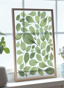 CLEAR ART 유럽산 우드프레임 투명액자 - Green Leaves #01 인테리어액자